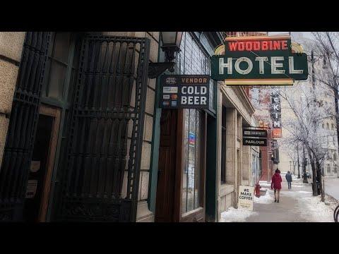 Winnipeg Walking Video 8 - Downtown Winnipeg - Main Street and King Street - Winter