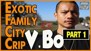 Exotic Family City Crip at childhood home on Eastside Long Beach, Cambodia Town (pt.1of2)