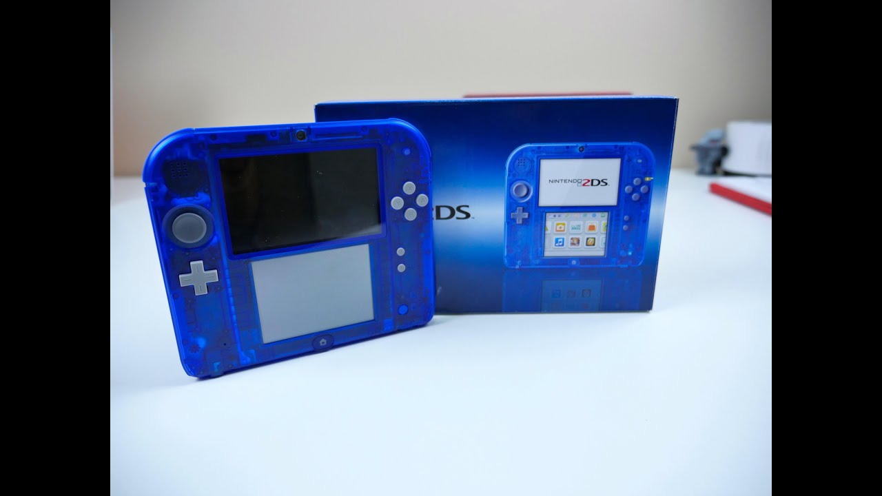 Crystal Blue Nintendo 2ds Unboxing Youtube