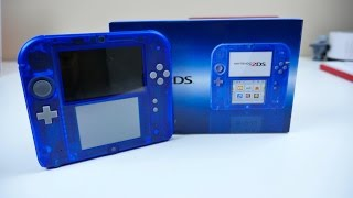 CRYSTAL BLUE Nintendo 2DS UNBOXING