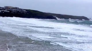 View of Fistral Beach From The Headland Hotel & Spa, Newquay. 5th December 2015.