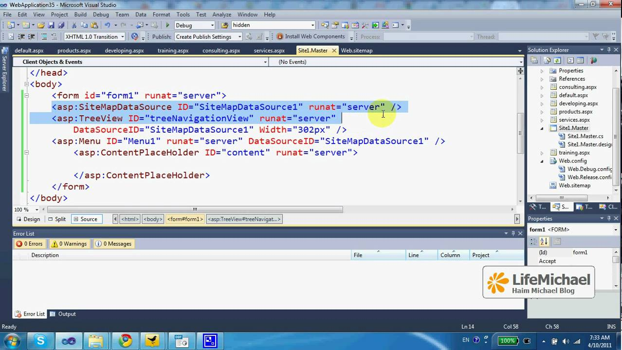 how to create site map in asp net 3 3 youtube