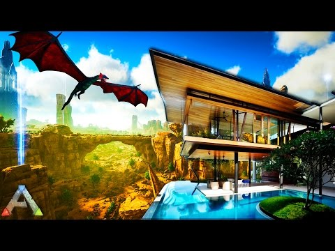 ARK SURVIVAL: Scorched Earth - BUILDING A MANSION - ARK SURVIVAL MOD (Ark Survival Evolved Gameplay)