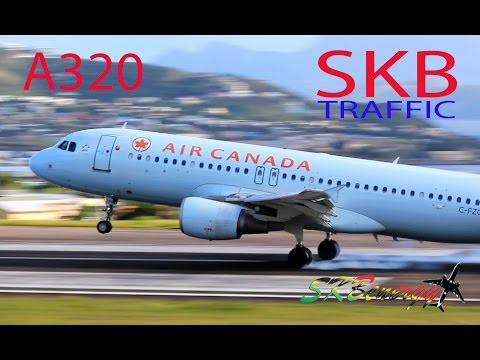 Air Canada A320 in action @ St. Kitts Robert L. Bradshaw Int'l Airport