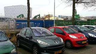 Opruimwerkzaamheden half ingestorte parkeergarage Eindhoven Airport