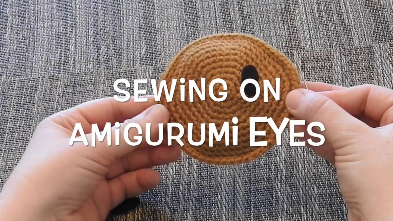 Basic embroidery sewing on amigurumi eyes youtube ccuart Image collections