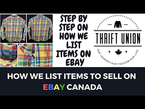 HOW TO LIST ON EBAY CANADA STEP BY STEP