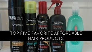 top 5 favorite affordable hair products Thumbnail