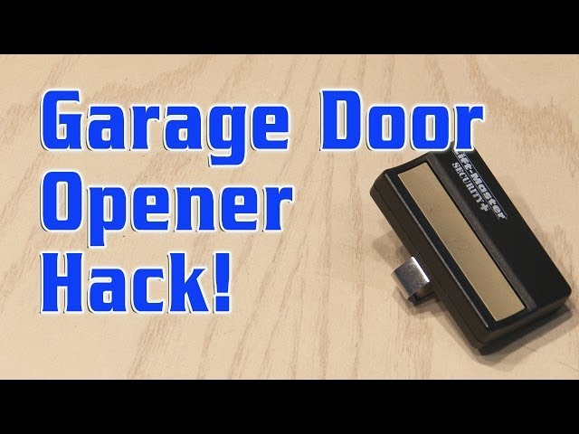 Garage Door Opener Hack Youtube