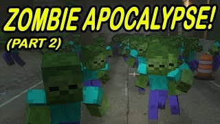 Minecraft  ZOMBIE APOCALYPSE!  City Zombie infestation!