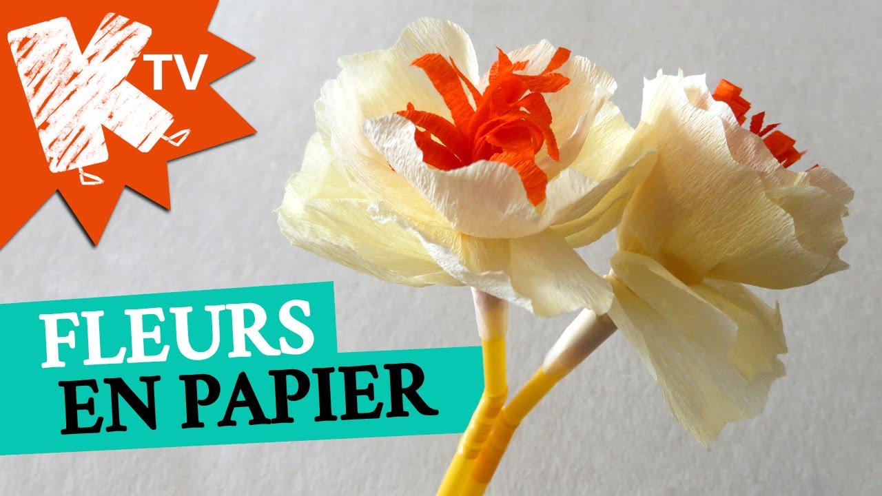 Fleur En Papier Crepon Facile A Faire concernant fleurs en papier crépon - bouquet pour maman - youtube