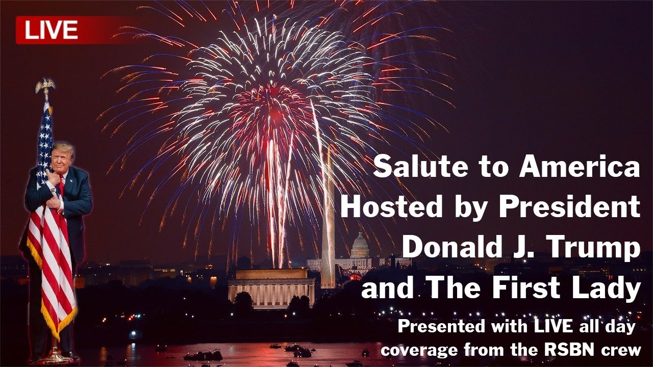 ? LIVE: SALUTE TO AMERICA Independence Day Celebration with Fireworks Hosted by President Trump