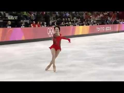 Irina Slutskaya of the Russian Federation. Olympic Games 2006 in Turin, Italy. Free skating