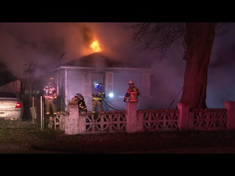 Couple rescued from burning house in NE Houston