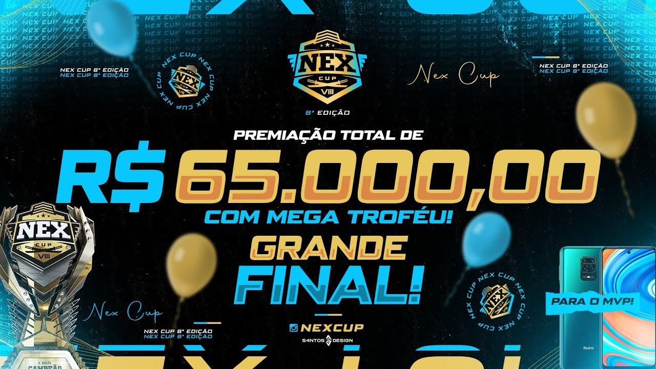 🏆 FREE FIRE - AO VIVO 🏆 NEX CUP - FINAL 🏆 R$ 65.000 EM PREMIAÇÕES 🏆