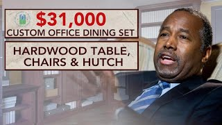 From youtube.com: Ben Carson reportedly spent $31K on his office dining set while HUD was planning to cut programs for the homeless, elderly and poor. {MID-259182}
