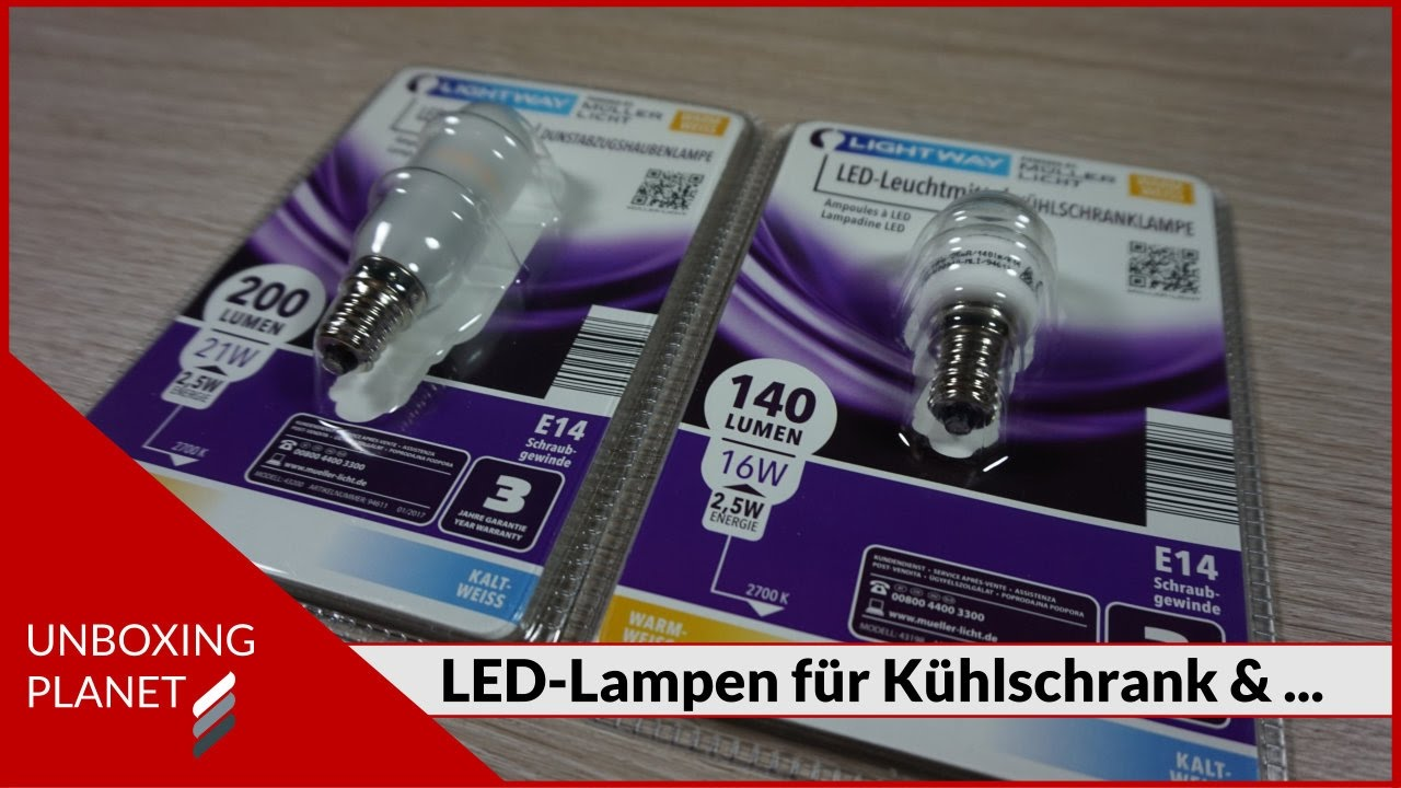Kühlschrank E14 : Led lampen für kühlschrank und dunstabzug unboxing video youtube