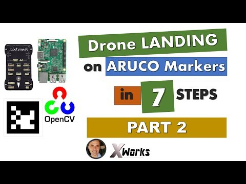 DRONE VISUAL LANDING with Aruco and OpenCv | Part 2 - YouTube