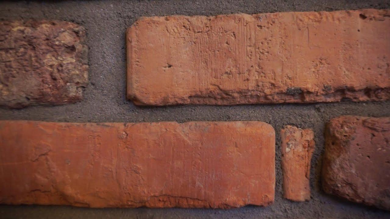 Verfugen von Sichtmauerwerk Ziegelwand Kamin Klinker