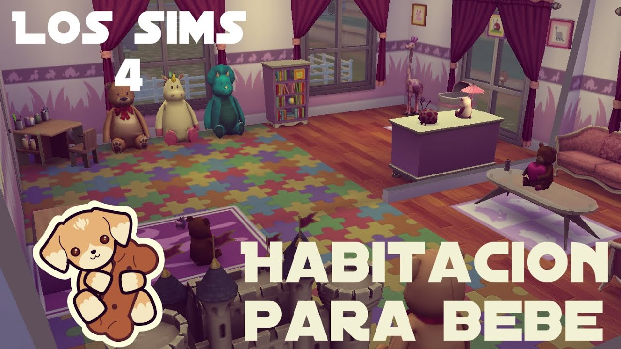 Speed build los sims 4 habitaci n para bebe youtube for Cuartos para ninos sims 4
