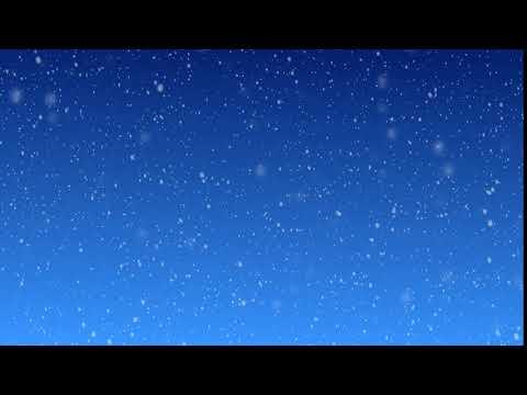 Футаж Снег на синем фоне