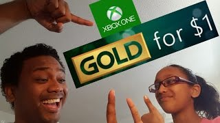 Get XBOX ONE Gold Membership for $1