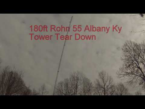 180' Rohn 55 Tower Take down Albany KY