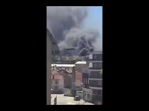 Annonay, Southern France, Fire in Hospital