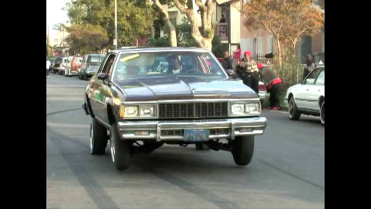 Chevy Caprice Clic Lowrider On Hydraulics In South Los Angeles