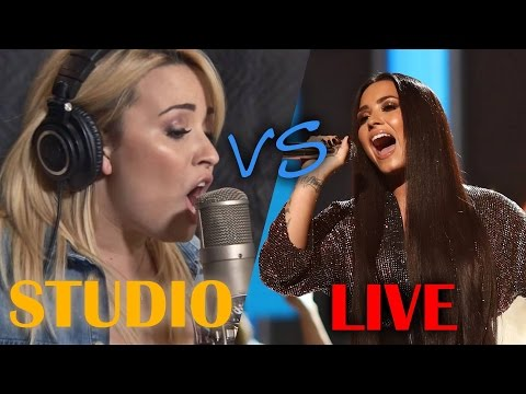 Demi Lovato - Studio vs Live (2017 Update)
