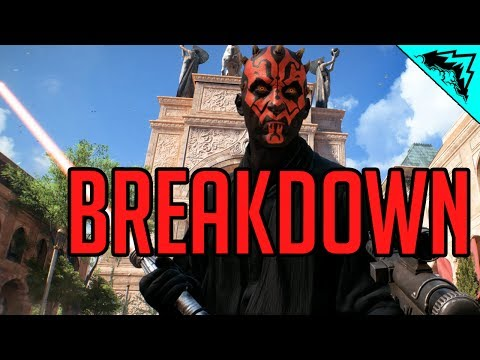 Star Wars Battlefront 2 Darth Maul BREAKDOWN (Star Cards, Abilities, and Gameplay)