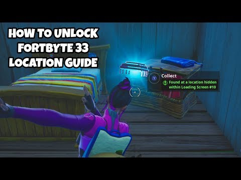 How To Unlock Fortbyte 33 Location Guide | Found At A Location Hidden Within Loading Screen #10