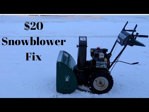 Snowblower Belt Replacement Auger Drive Step By Step