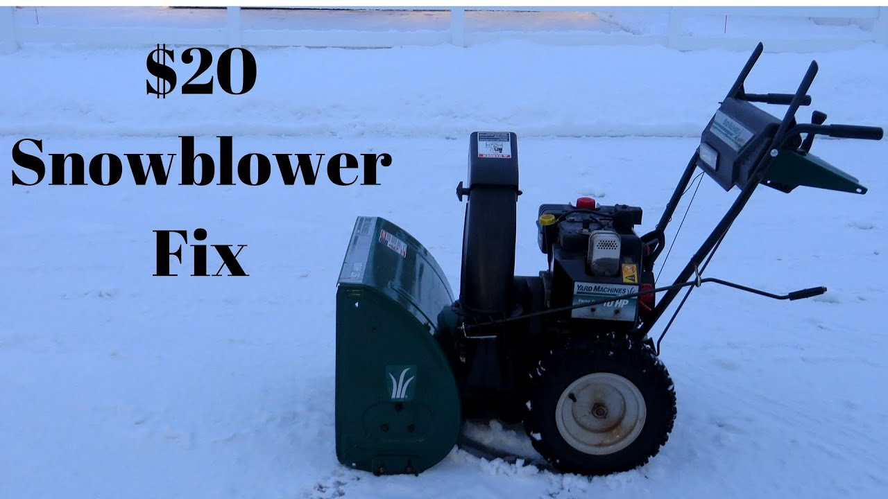 Snowblower Belt Replacement Auger Drive Step By