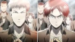 Shingeki no kyojin version Jean Vs Eren