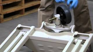 Replace the steer wheels on a manual pallet jack