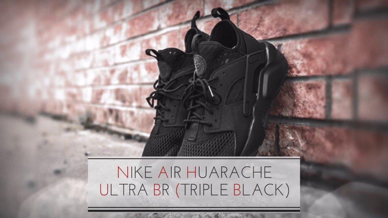 2c350b50d4a9 NIKE AIR HUARACHE ULTRA BR (TRIPLE BLACK) SNEAKERS T - YouTube