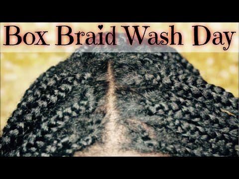 BOX BRAIDS WASH DAY: Cleanse & Moisturize Natural Hair in Box Braids | SimplySubrena