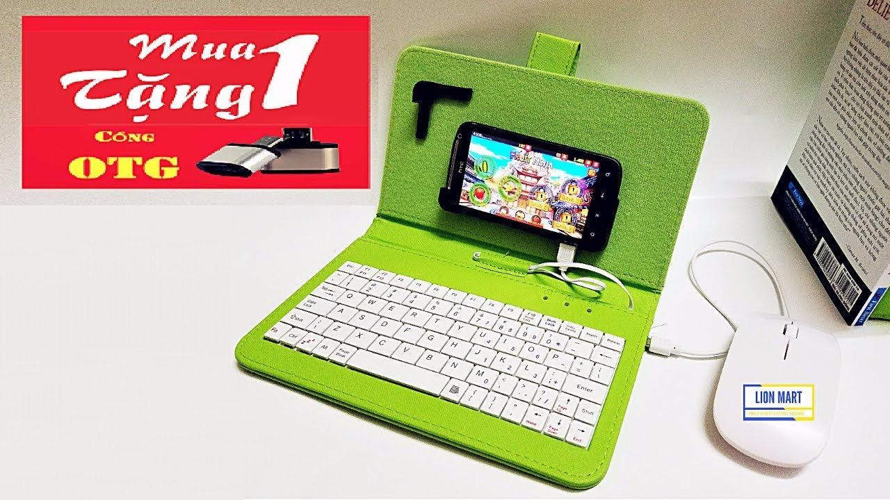 Bao da bàn phím có chuột cho máy tính bảng, điện thoại Android miễn phí Ship