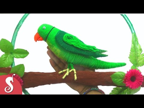 DIY Woolen PARROT Wall Hanging for Home Decoration