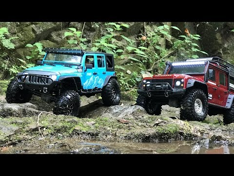 Traxxas TRX4 Defender | New Bright Rubicon JK | Trials at the valleys