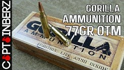 .223 77gr Sierra Match King (OTM) by Gorilla Ammunition