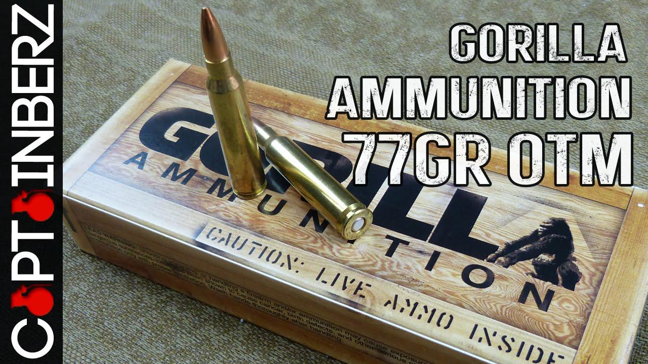 223 77gr Sierra Match King (OTM) by Gorilla Ammunition