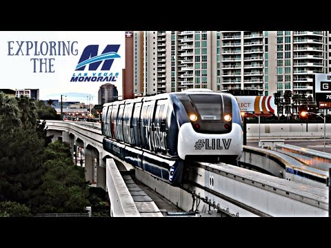 The Las Vegas Monorail All 7 Stops!