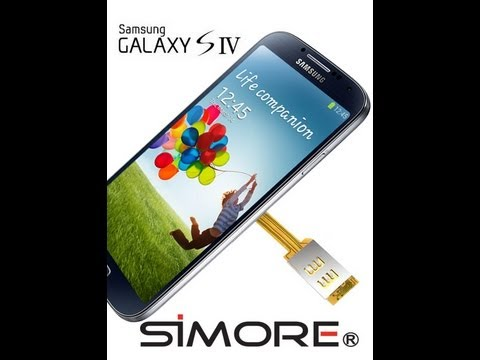 Samsung Galaxy S4 - Dual SIM Adapter Android For Samsung Galaxy S4 I9505 - SIMore