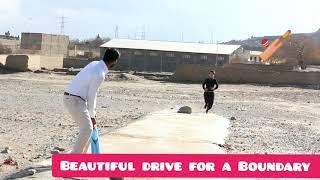 Playing cricket in Hazara town