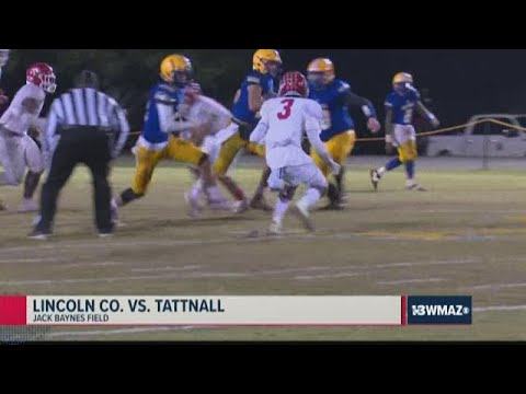 Lincoln County Vs. Tattnall 2019 Georgia High School Football Highlights (Week 12)