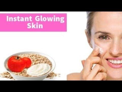 Diy Face Mask For Instant Glowing Skin Tomato Oatmeal Yogurt