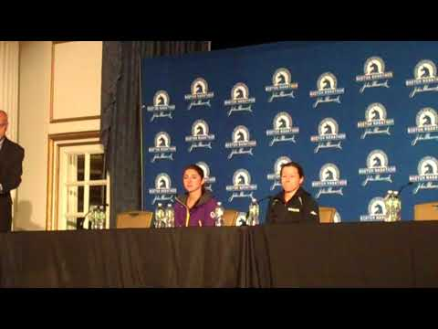 Sara Sellers and Krista Duchene Talk After Shock 2nd and 3rd Finishes at Boston Marathon