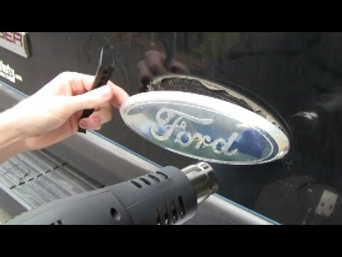 How to REMOVE & REPLACE Faded Ford DECAL (tailgate or rear hatch)